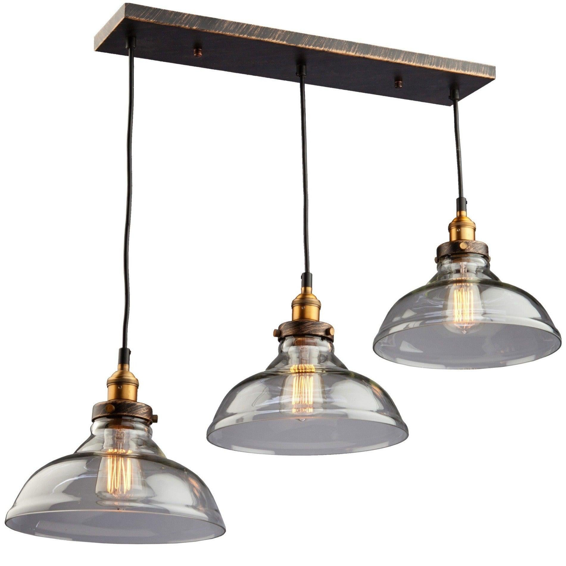 Artcraft Lighting - AC10170 - Three Light Pendant - Greenwich - Bronze & Copper