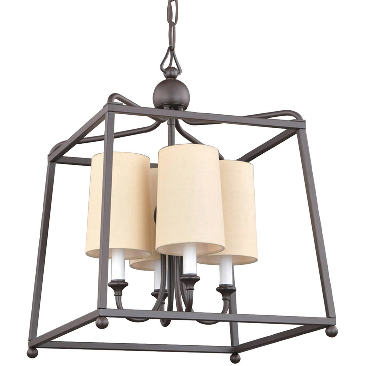 Crystorama - 2245-DB - Four Light Chandelier - Sylvan - Dark Bronze