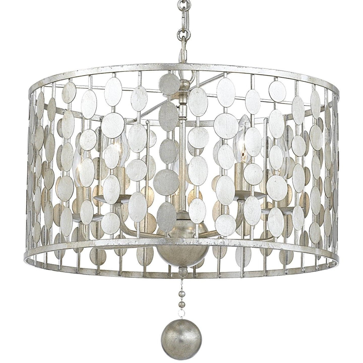 Crystorama - 545-SA - Five Light Chandelier - Layla - Antique Silver