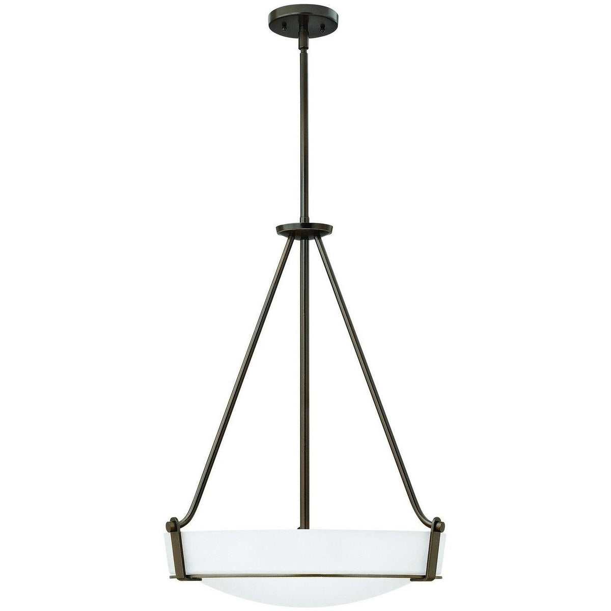 Hinkley Canada - 3222OB-WH-LED - LED Foyer Pendant - Hathaway - Olde Bronze With Etched White Glass
