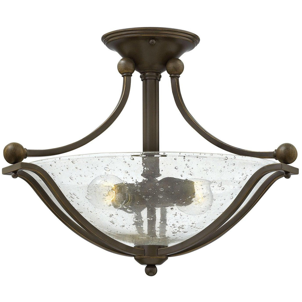 Hinkley Canada - 4651OB-CL - Two Light Semi-Flush Mount - Bolla - Olde Bronze With Clear Seedy Glass