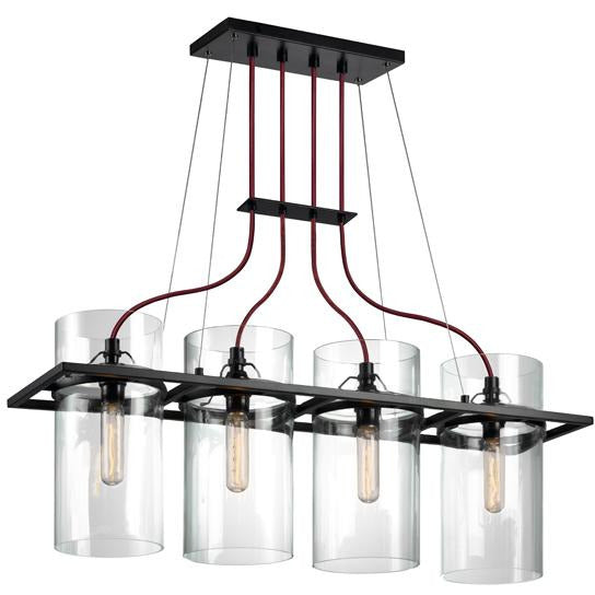 Sonneman - A Way of Light - 4764.25 - Four Light Pendant - Square Ring - Satin Black