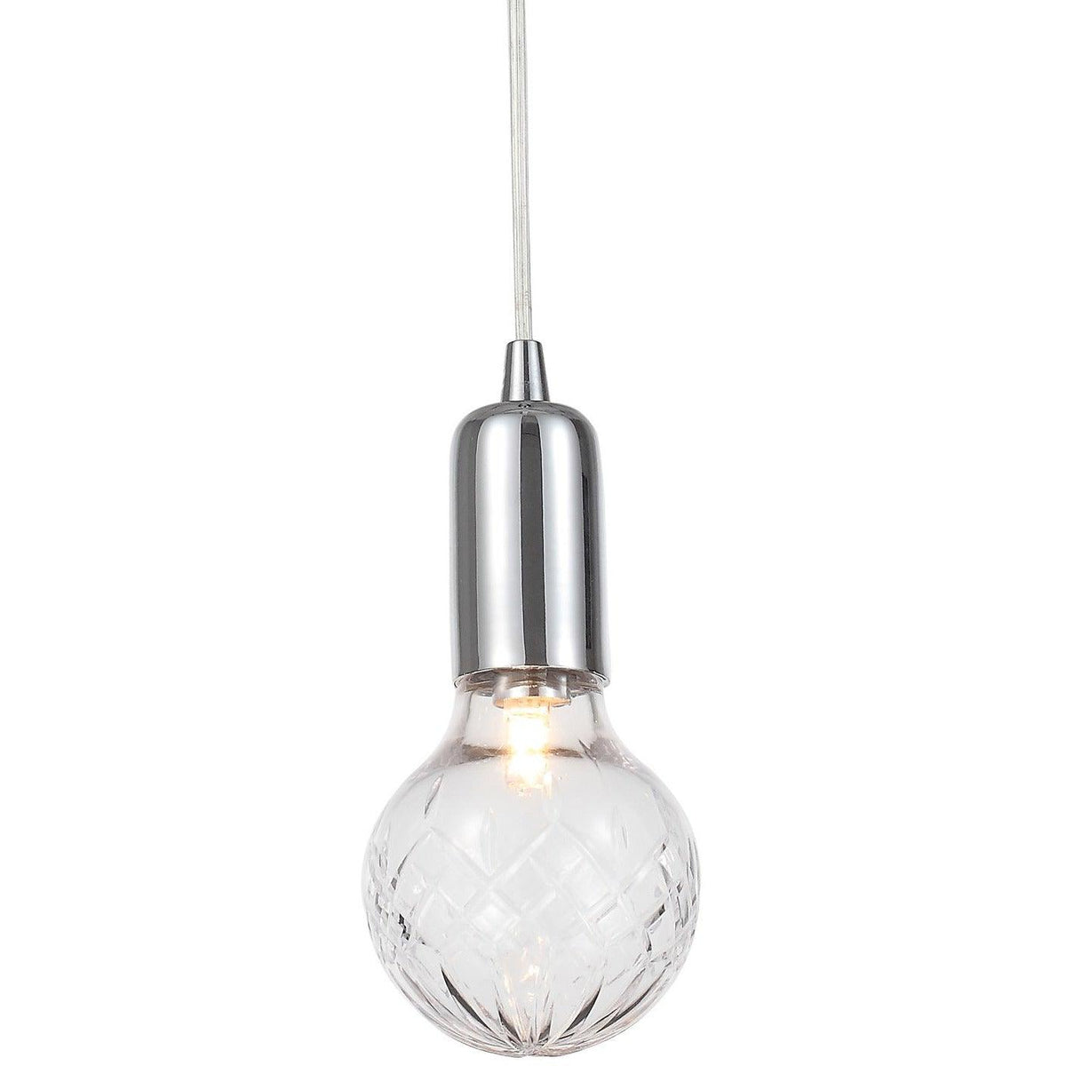 Crystorama - 200-CH - One Light Pendant - Essex - Polished Chrome