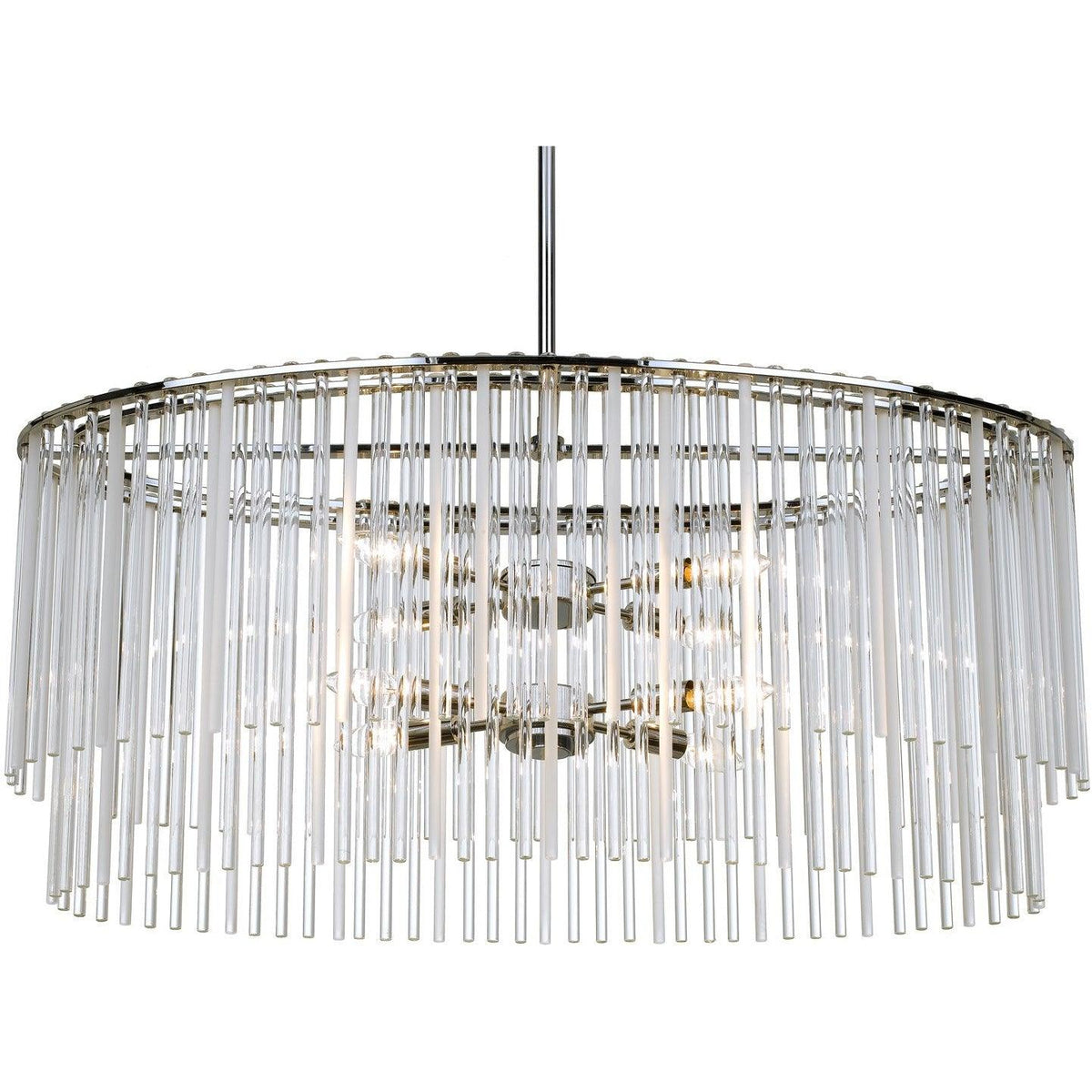 Crystorama - 398-CH - Eight Light Chandelier - Bleecker - Polished Chrome