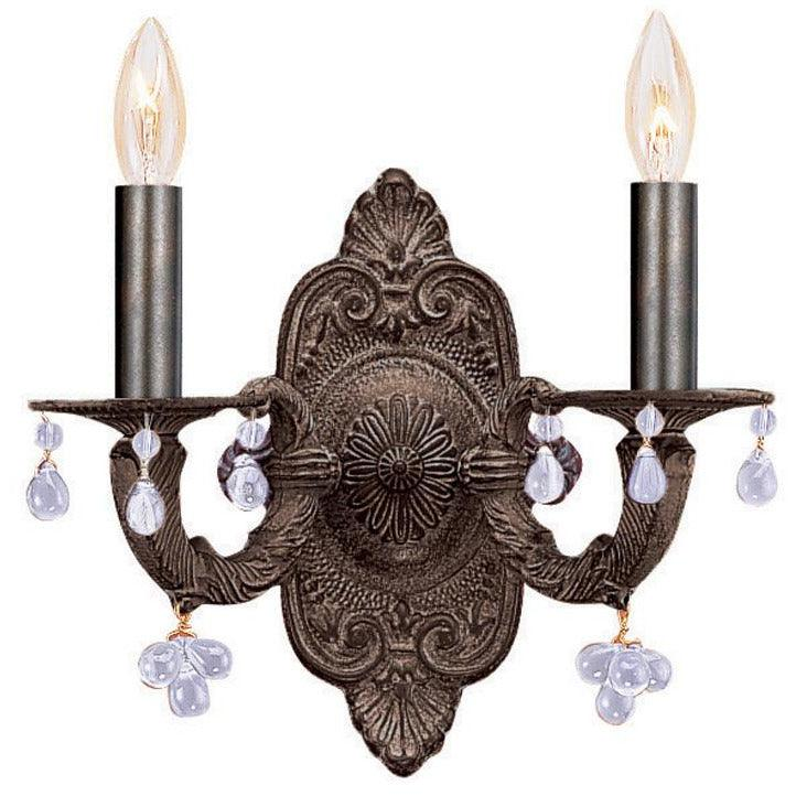 Crystorama - 5200-VB-CLEAR - Two Light Wall Mount - Paris Market - Venetian Bronze