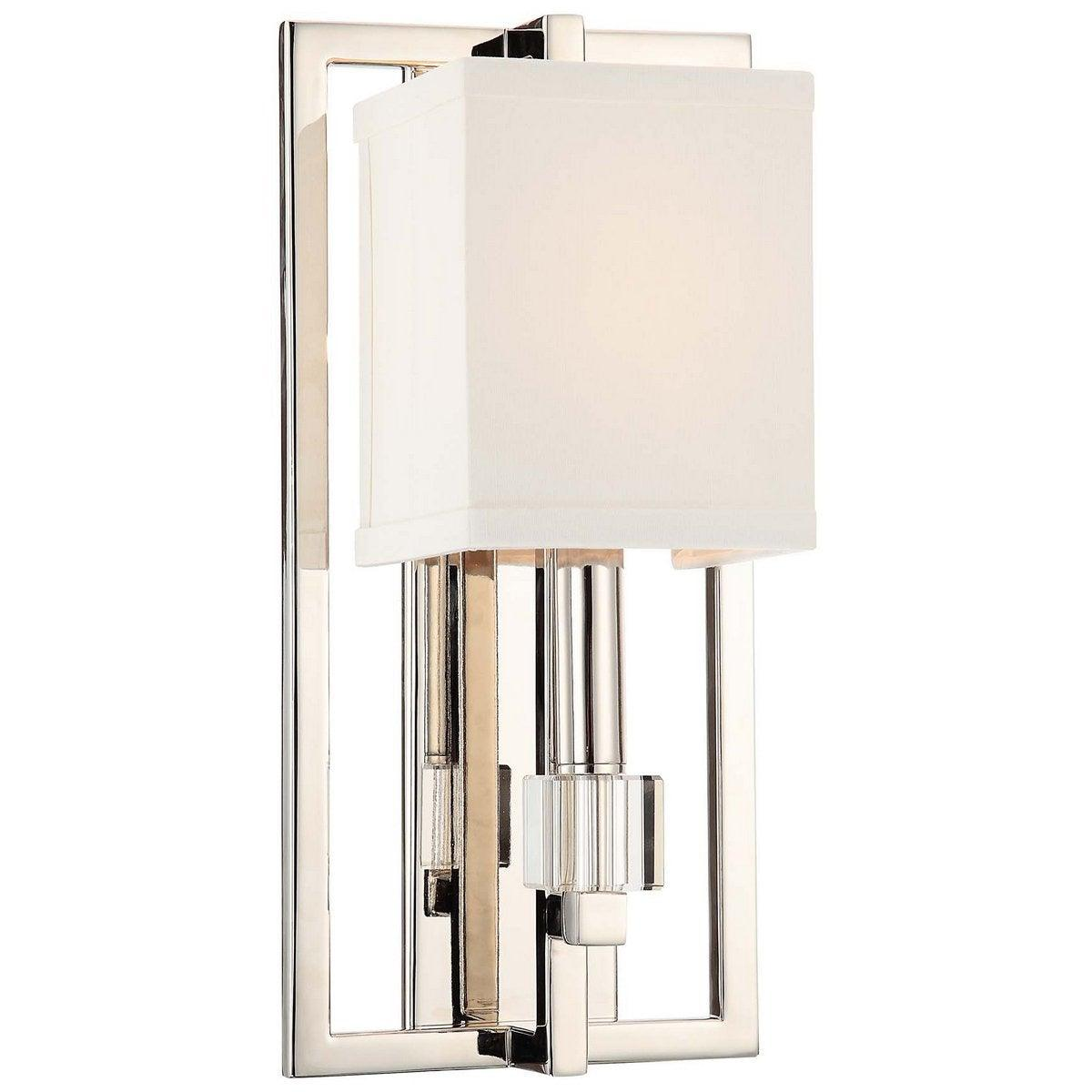 Crystorama - 8881-PN - One Light Wall Mount - Dixon - Polished Nickel