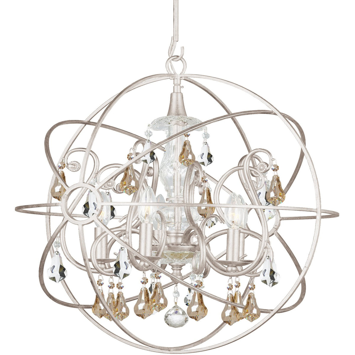 Crystorama - 9026-OS-GS-MWP - Five Light Chandelier - Solaris - Olde Silver