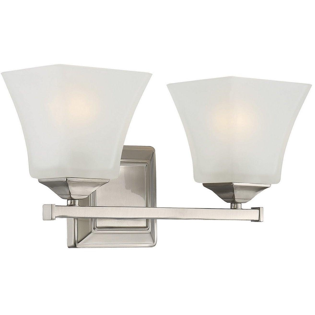 Savoy House - 8-2098-2-SN - Two Light Bath Bar - Castel - Satin Nickel