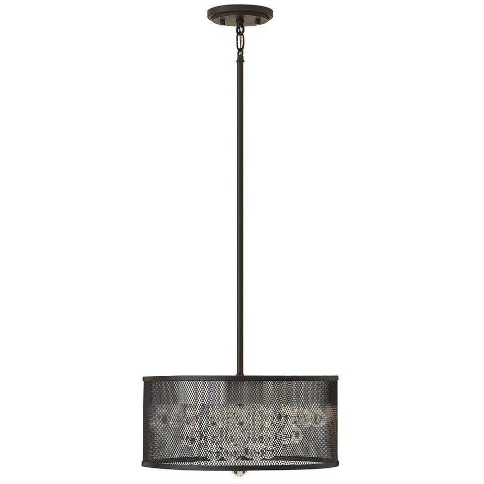Fredrick Ramond Canada - FR38901BLK - Four Light Foyer Pendant - Fiona - Black