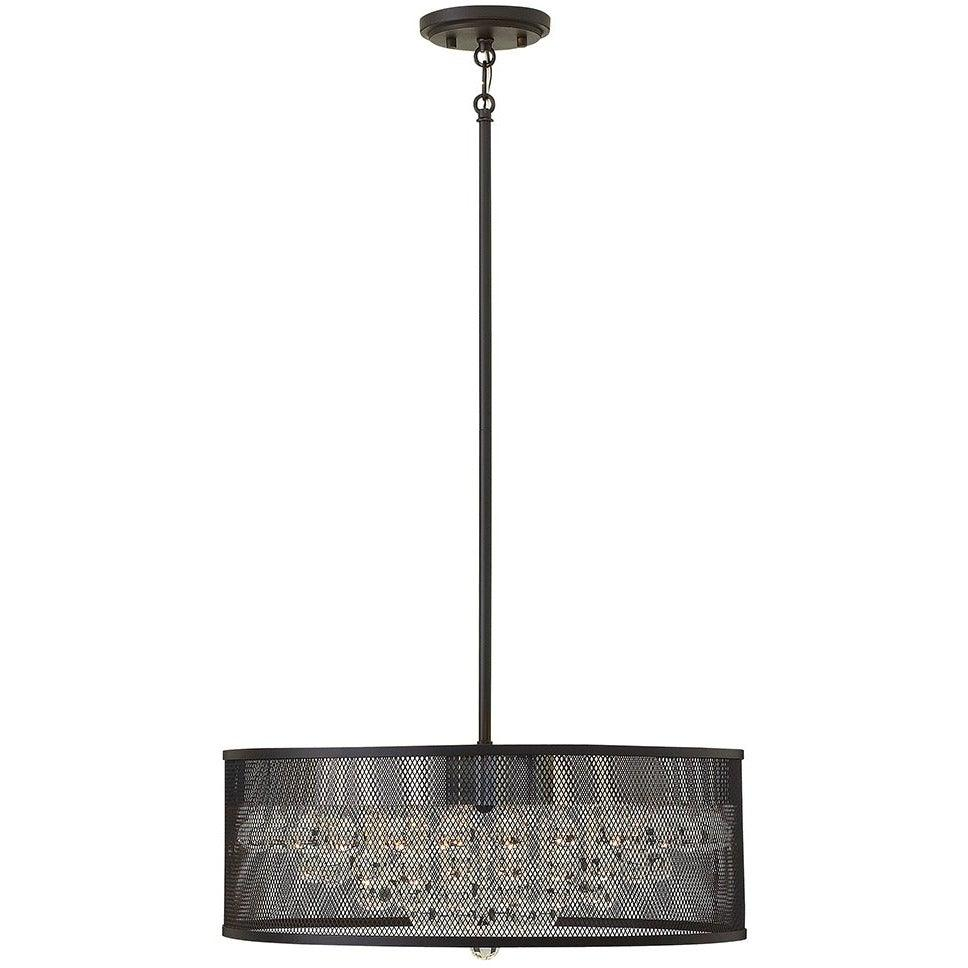 Fredrick Ramond Canada - FR38904BLK - Five Light Foyer Pendant - Fiona - Black