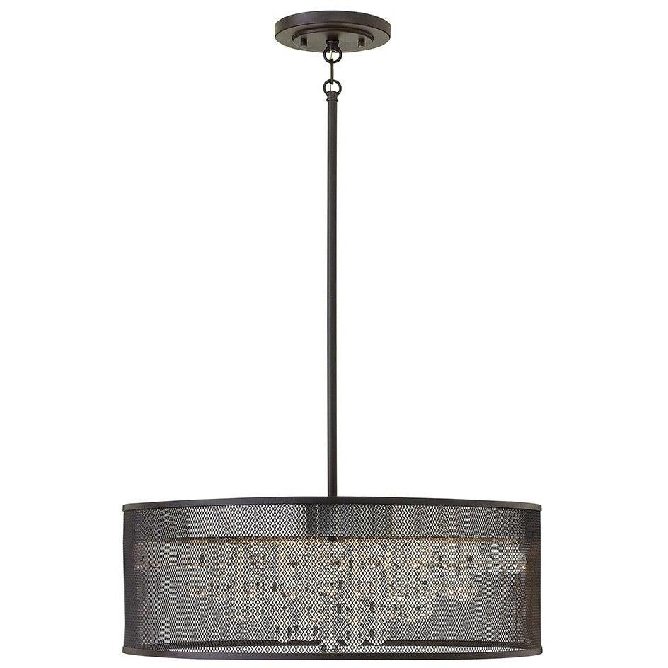 Fredrick Ramond Canada - FR38905BLK - Six Light Foyer Pendant - Fiona - Black