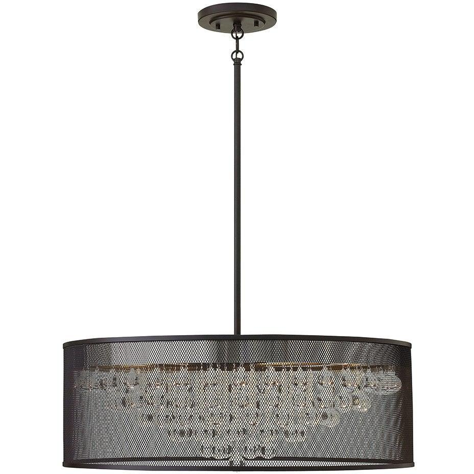Fredrick Ramond Canada - FR38906BLK - Eight Light Foyer Pendant - Fiona - Black
