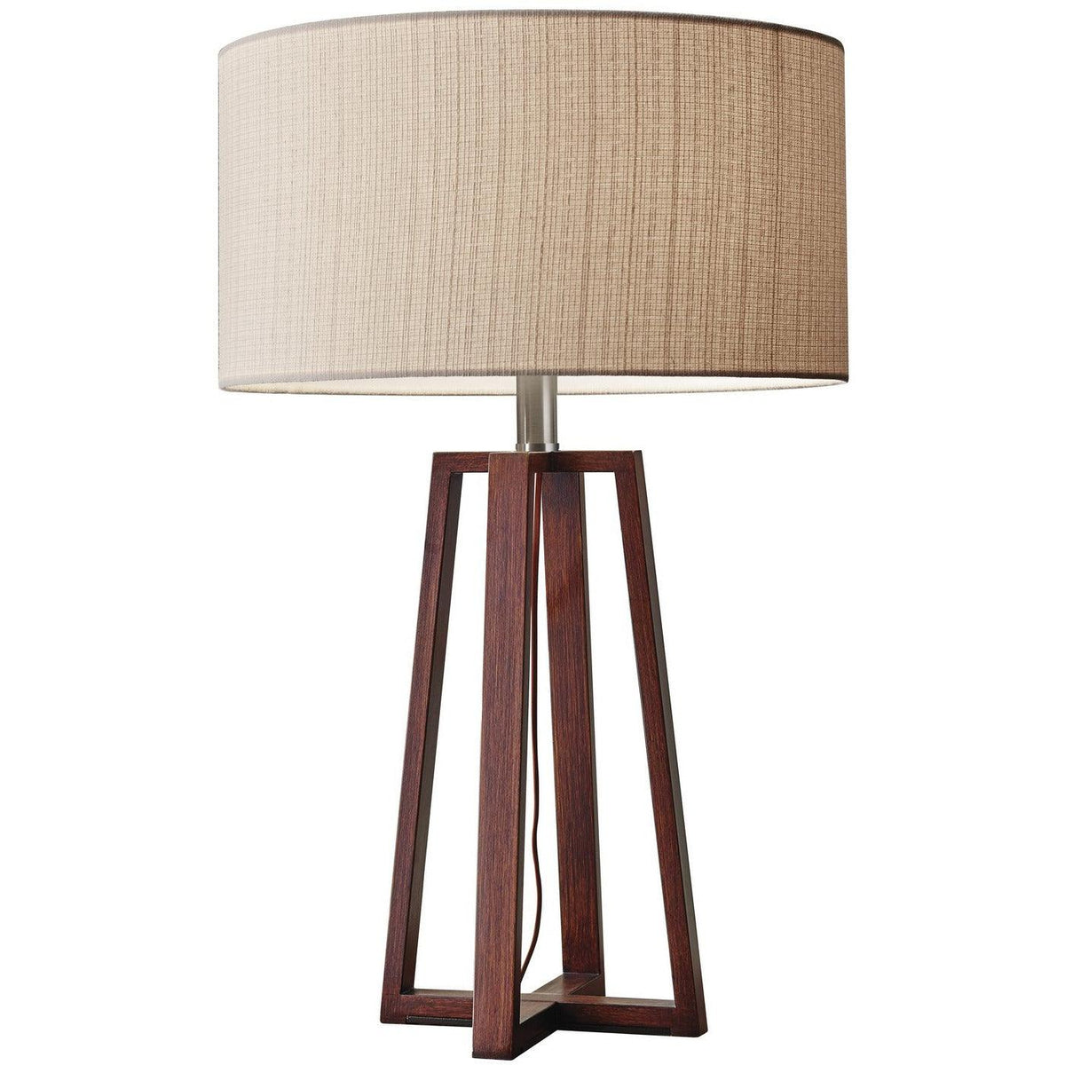 Adesso Home - 1503-15 - One Light Table Lamp - Quinn - Walnut Birch Wood