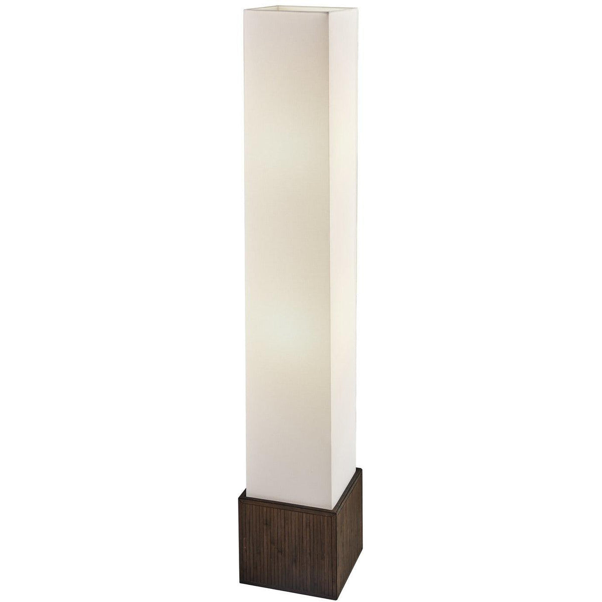 Adesso Home - 3004-14 - Two Light Floor Lamp - Sebu - Teak brown finish bamboo
