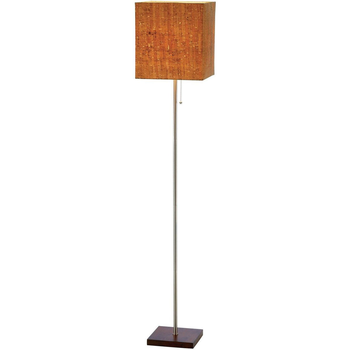 Adesso Home - 4085-15 - One Light Floor Lamp - Sedona - Walnut Rubber wood/Brushed steel