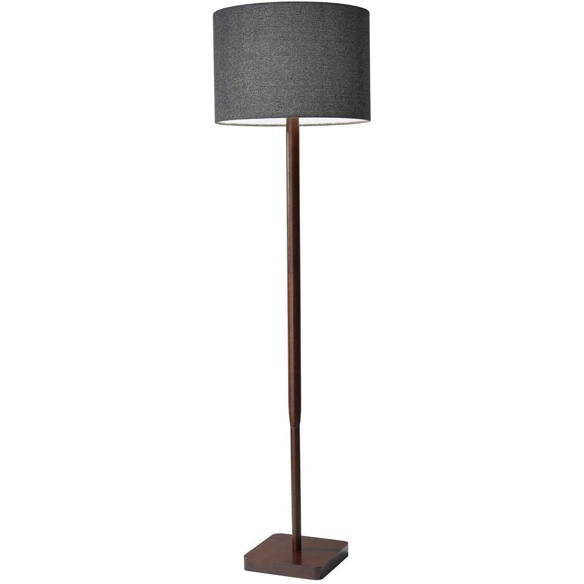 Adesso Home - 4093-15 - One Light Floor Lamp - Ellis - Walnut Rubber Wood