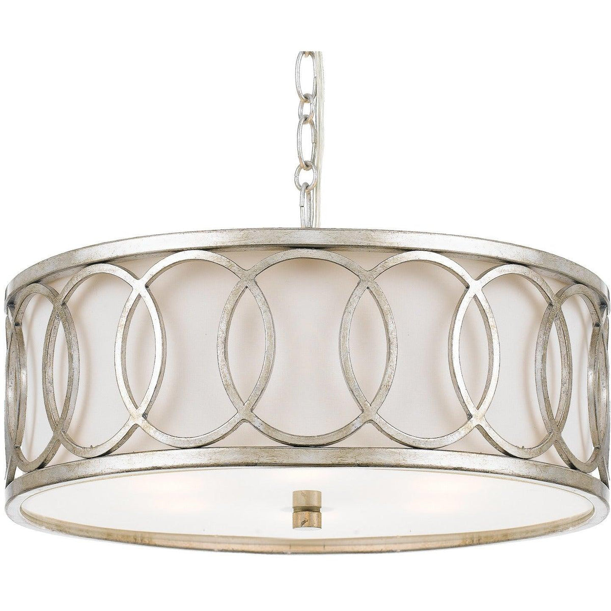 Crystorama - 287-SA - Six Light Chandelier - Graham - Antique Silver