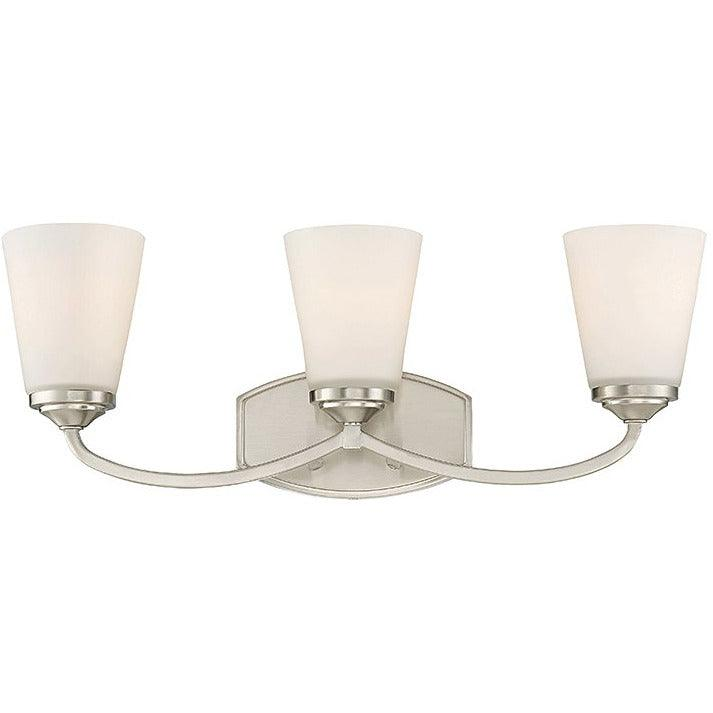 Savoy House - 8-9070-3-SN - Three Light Bath Bar - Jordan - Satin Nickel