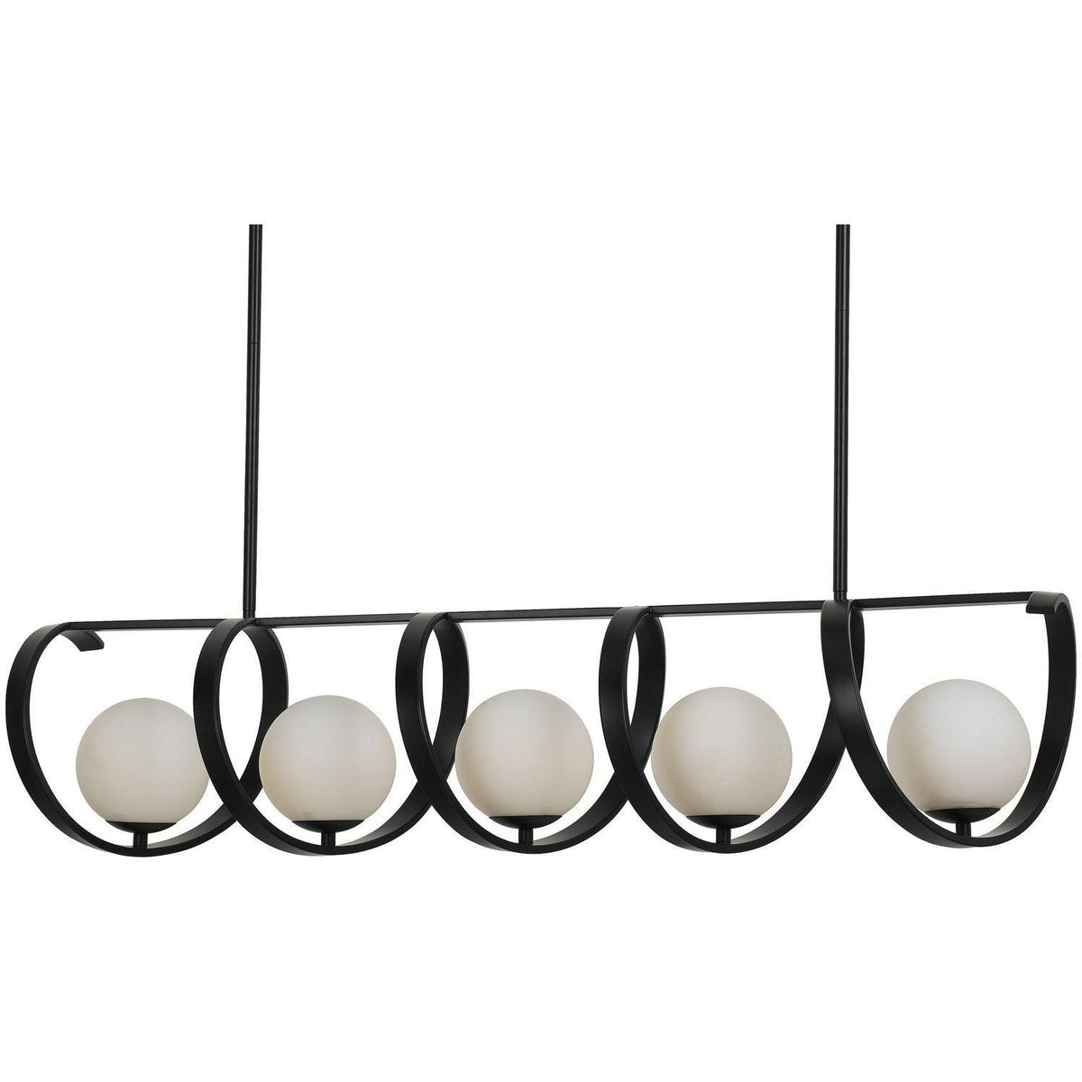 Crystorama - 6465-MK - Five Light Chandelier - Arlo - Matte Black
