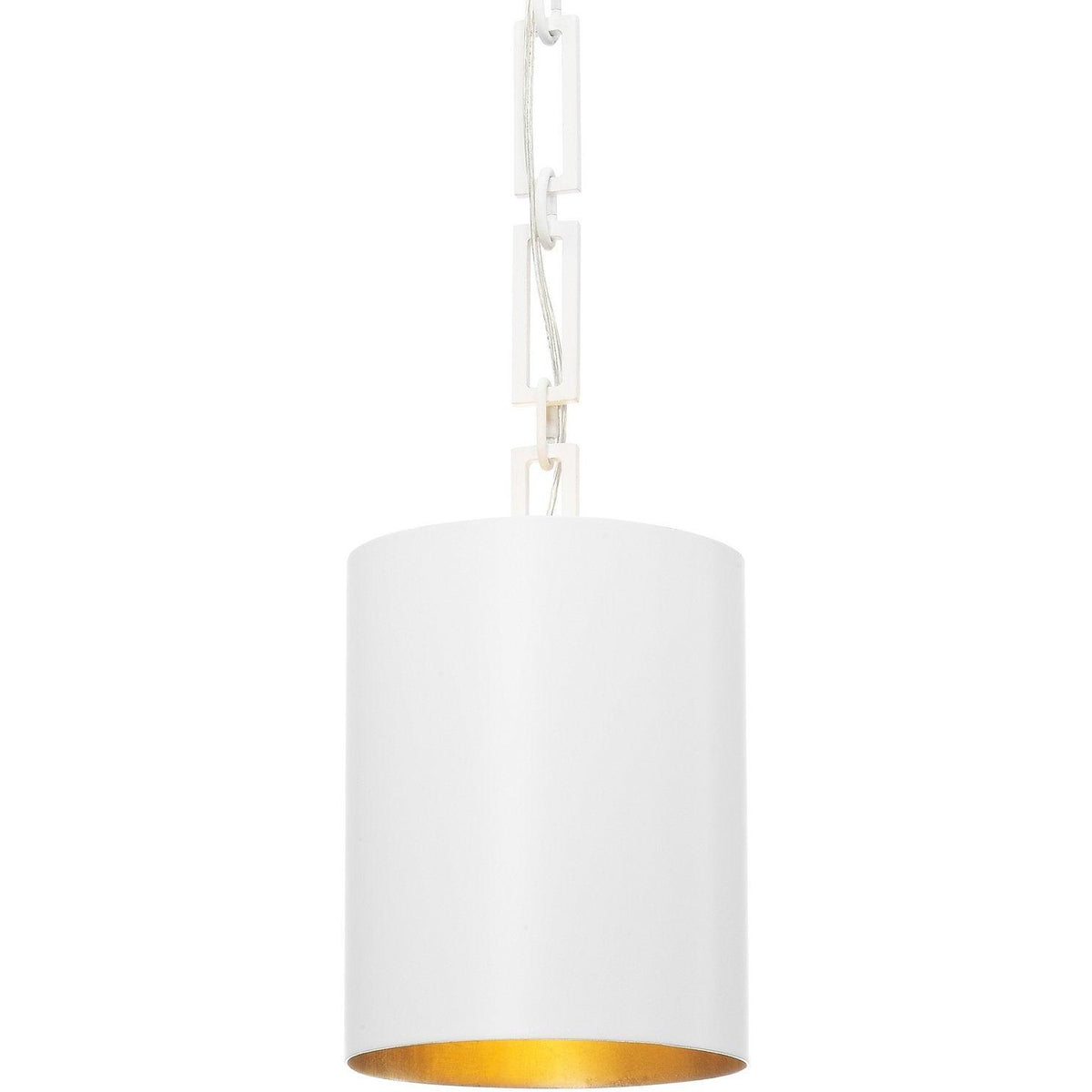 Crystorama - 8680-MT-GA - One Light Mini Chandelier - Alston - Matte White / Antique Gold