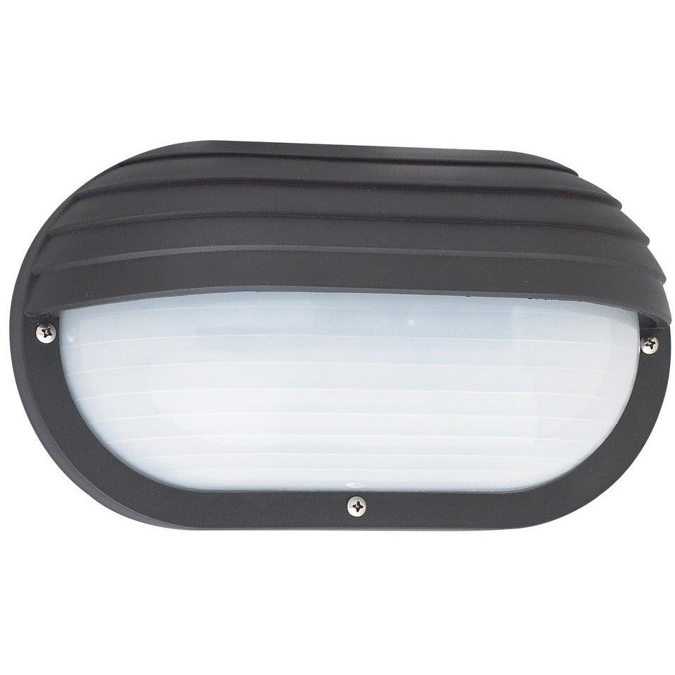 Sea Gull Collection - 89805-12 - Generation Lighting - Bayside - Outdoor Oval Eyelid Marine Light - Black