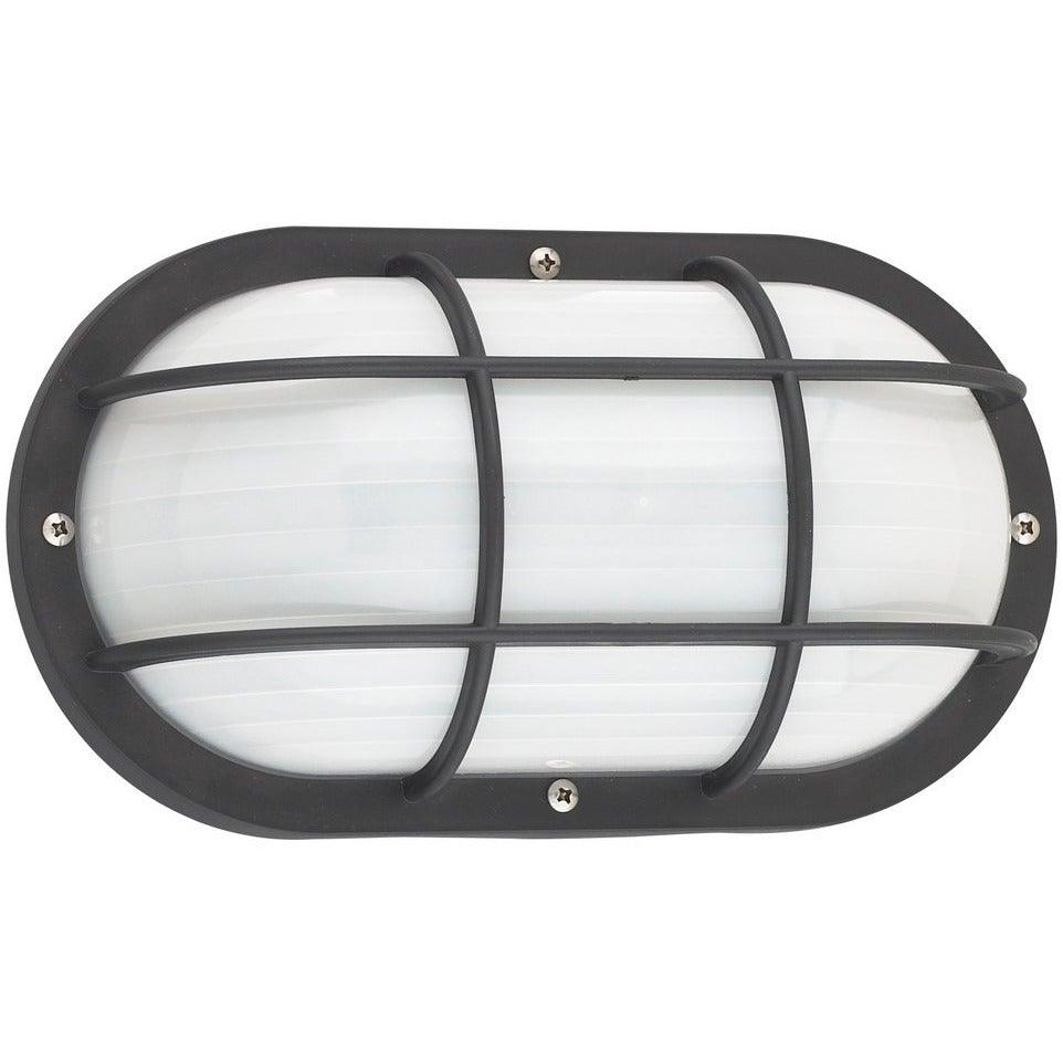 Sea Gull Collection - 89806-12 - Generation Lighting - Bayside - Outdoor Oval Caged Marine Light - Black