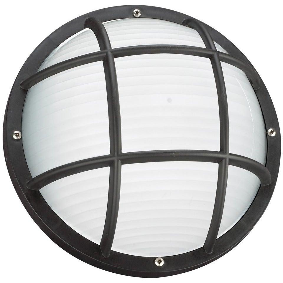 Sea Gull Collection - 89807-12 - Generation Lighting - Bayside - Outdoor Round Caged Marine Light - Black