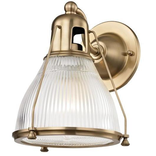 Hudson Valley - 7301-AGB - One Light Wall Sconce - Haverhill - Aged Brass