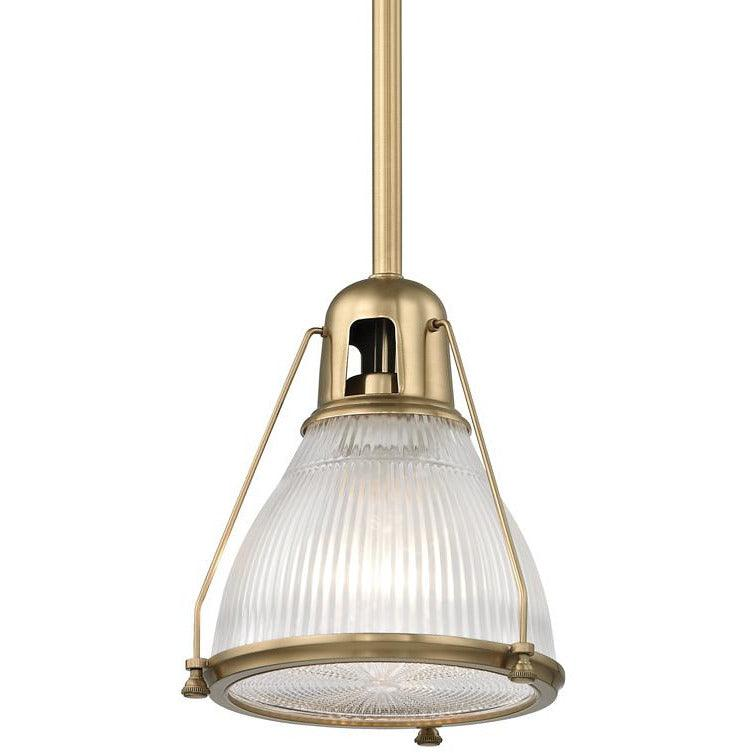 Hudson Valley - 7308-AGB - One Light Pendant - Haverhill - Aged Brass