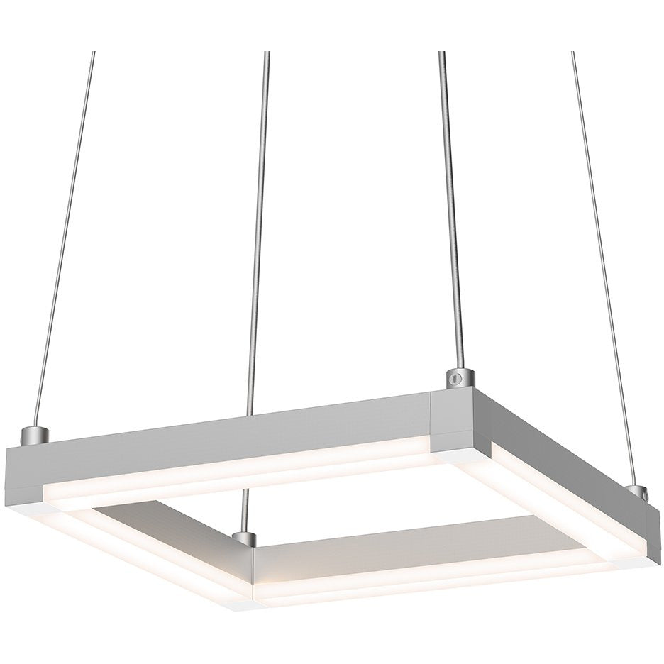 Sonneman - A Way of Light - 2785.16 - LED Pendant - Stix Square - Bright Satin Aluminum