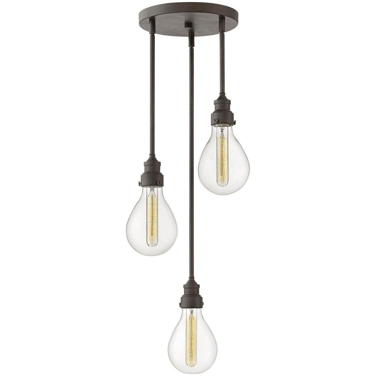 Hinkley Canada - 3263IN - Three Light Pendant - Denton - Industrial Iron