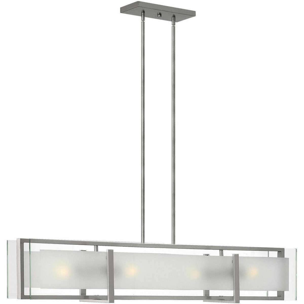 Hinkley Canada - 3996BN - Four Light Linear Chandelier - Latitude - Brushed Nickel