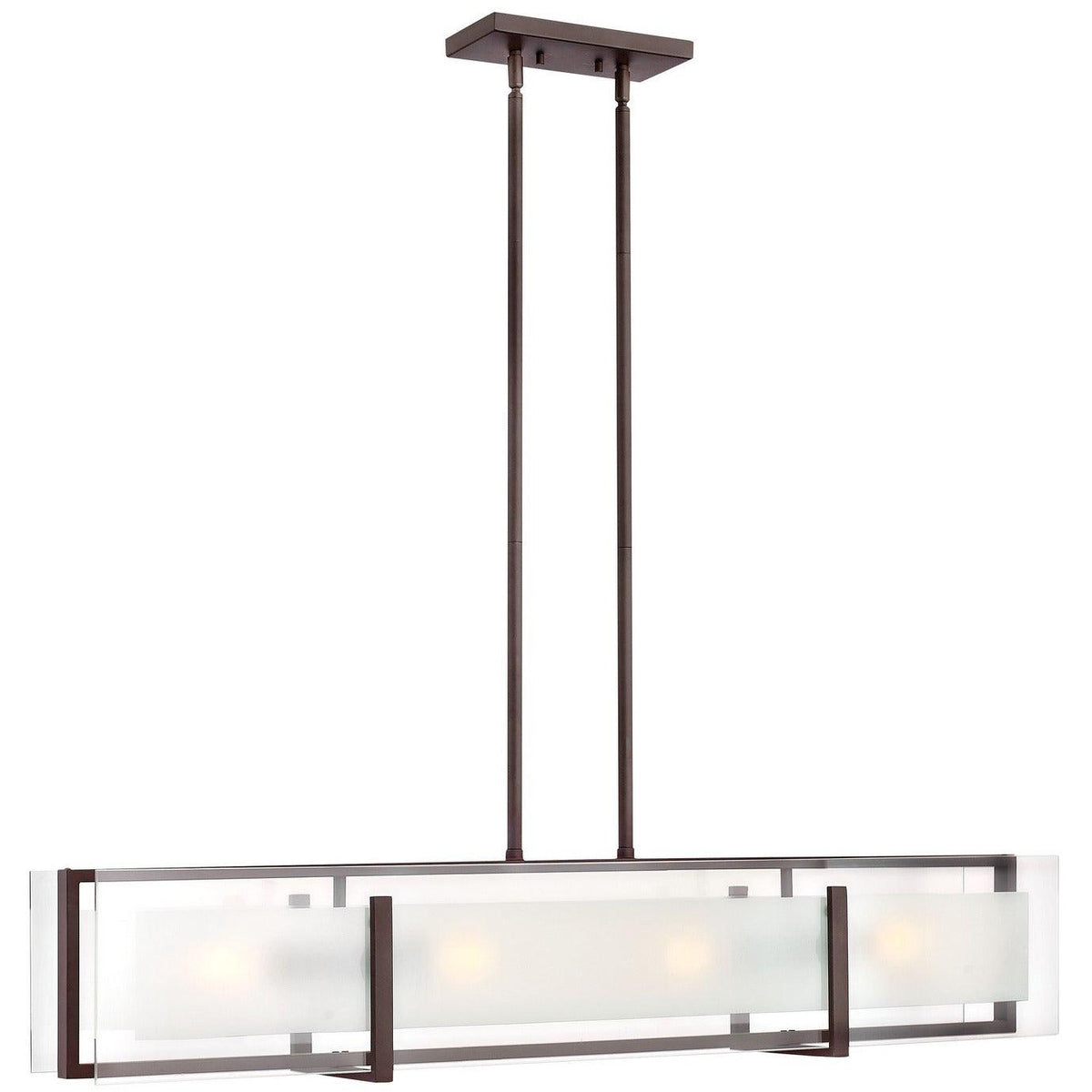Hinkley Canada - 3996OZ - Four Light Linear Chandelier - Latitude - Oil Rubbed Bronze