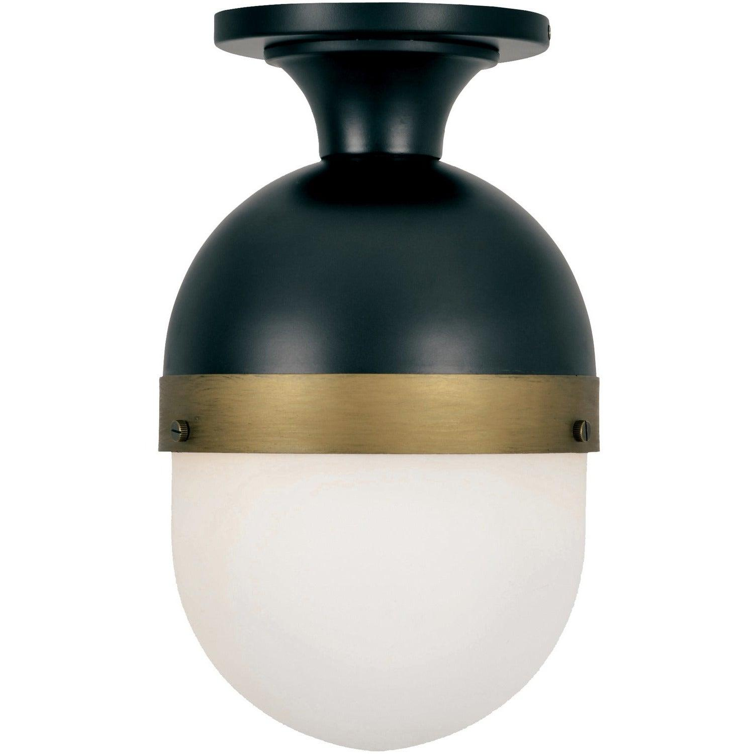 Crystorama - CAP-8500-MK-TG - One Light Outdoor Ceiling Mount - Capsule - Matte Black