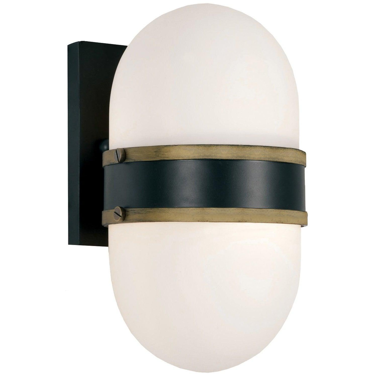Crystorama - CAP-8501-MK-TG - One Light Outdoor Wall Mount - Capsule - Matte Black
