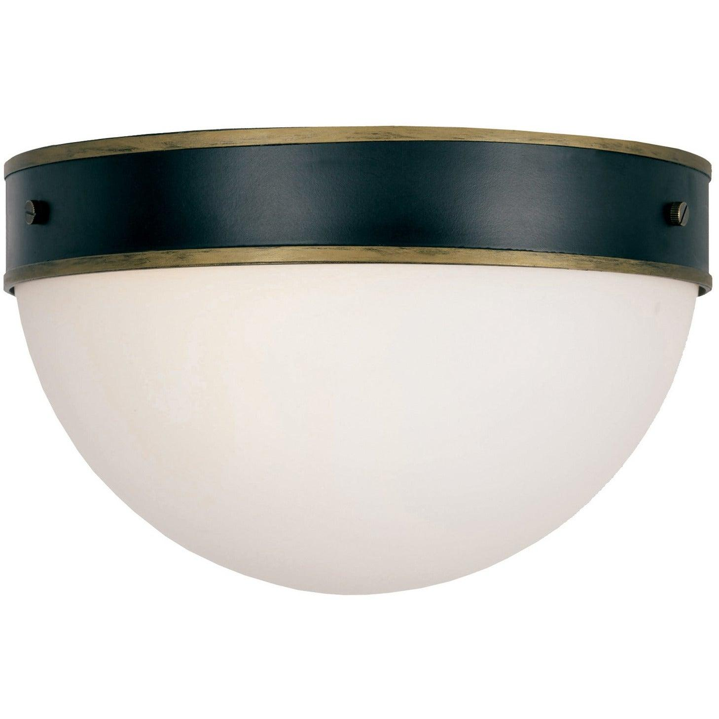 Crystorama - CAP-8503-MK-TG - Two Light Outdoor Ceiling Mount - Capsule - Matte Black