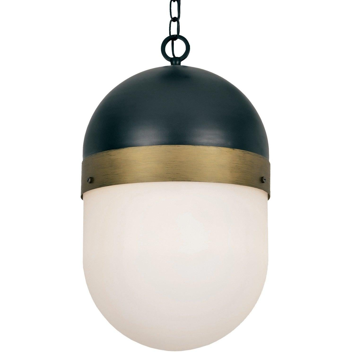 Crystorama - CAP-8506-MK-TG - Three Light Outdoor Pendant - Capsule - Matte Black