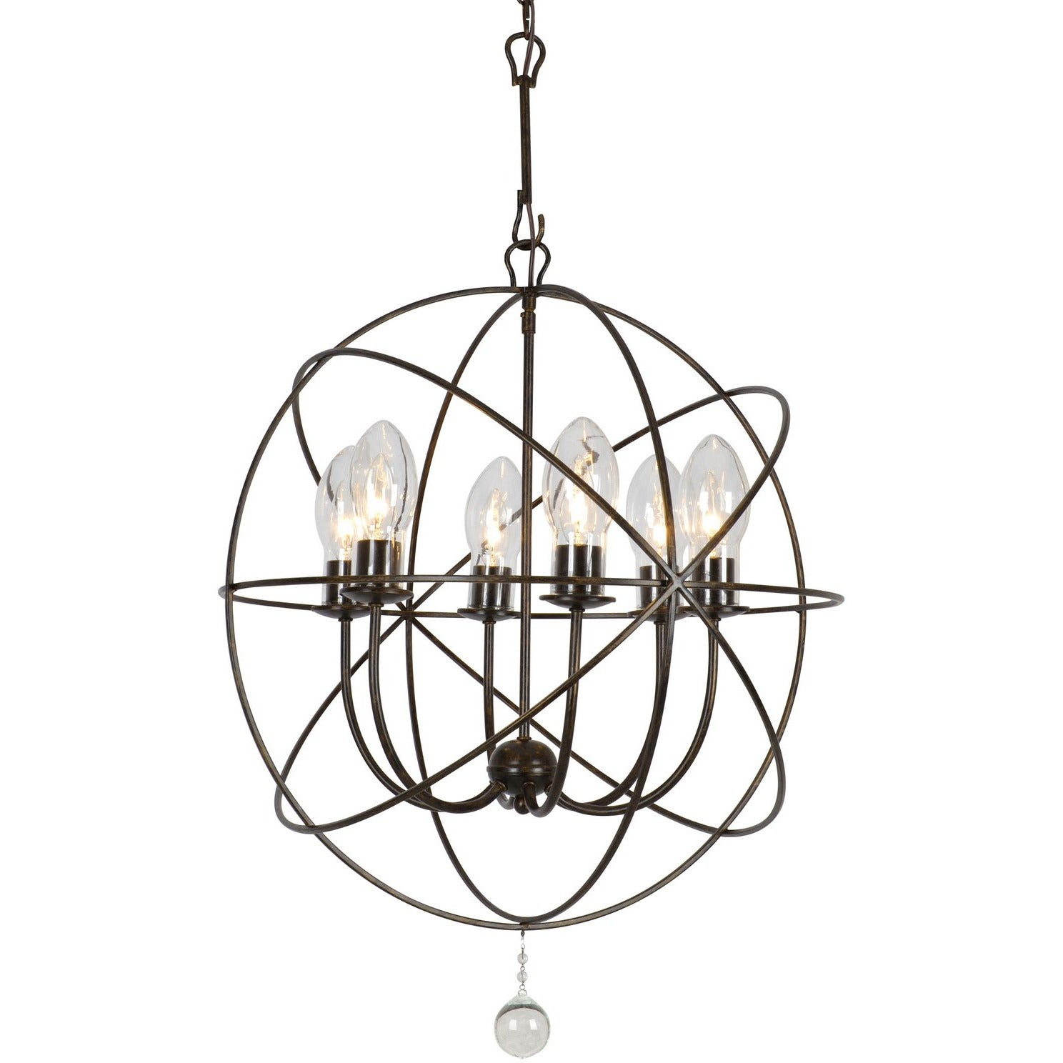 Crystorama - SOL-9326-EB - Six Light Outdoor Chandelier - Solaris - English Bronze