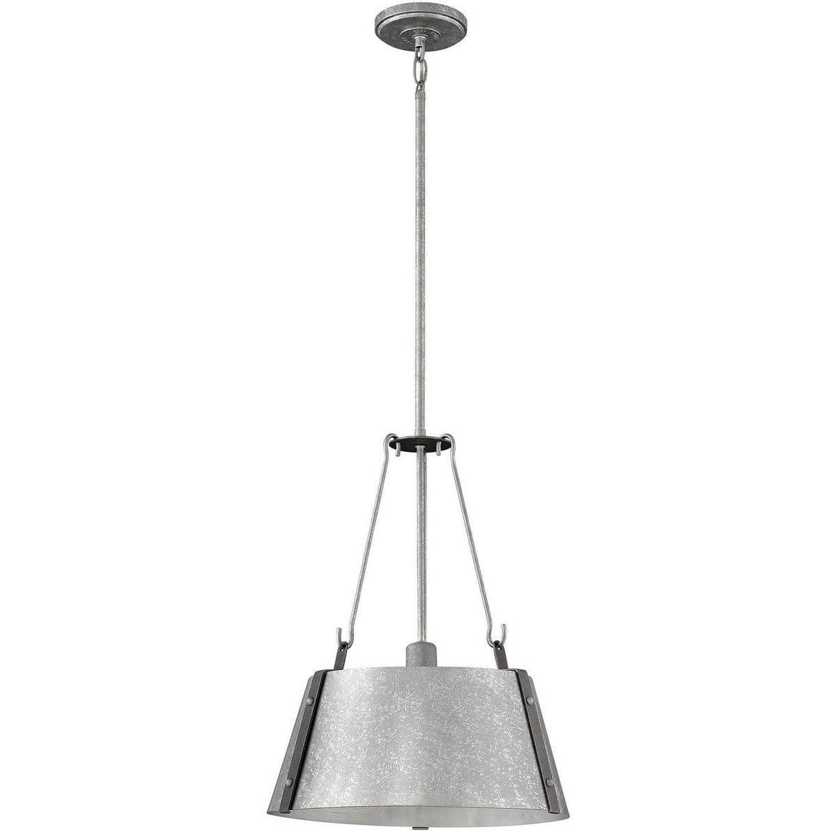 Hinkley Canada - 3394GV - One Light Pendant - Cartwright - Galvanized