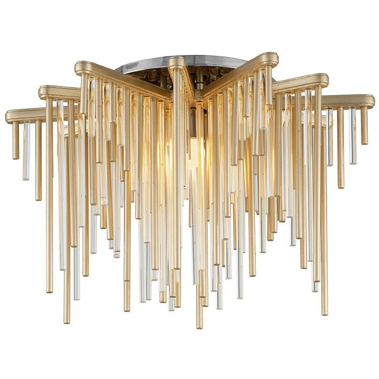 Corbett Lighting - 238-31 - Semi Flush Mount - Theory - Gold Leaf Polished Stainless