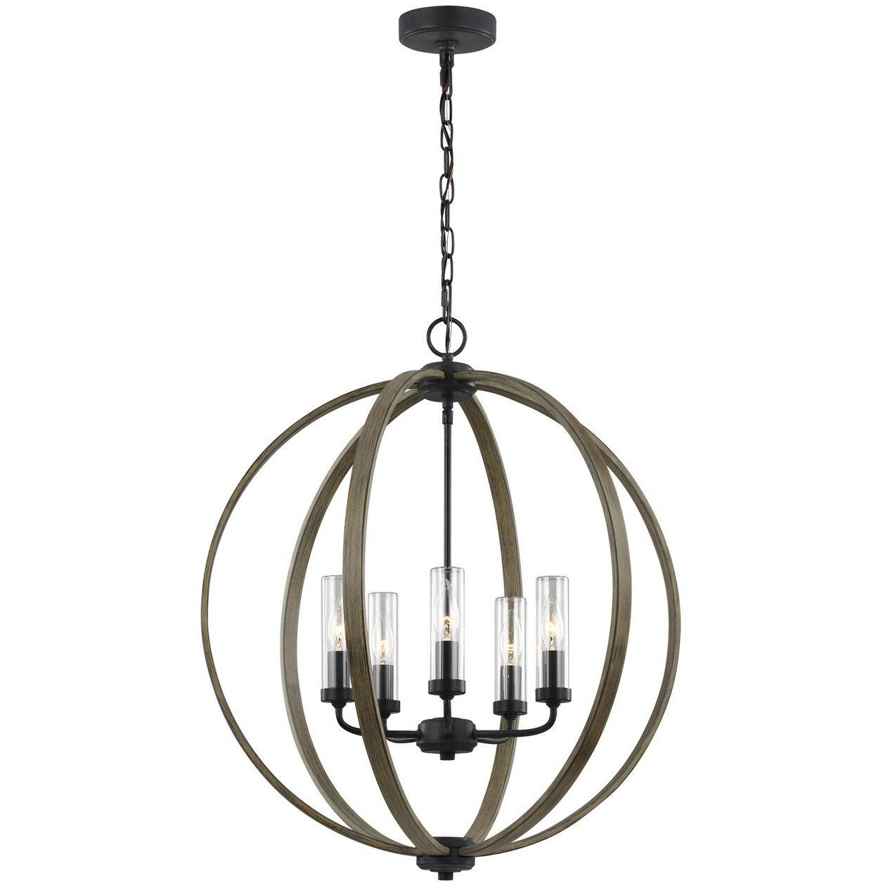 Feiss - OLF3294/5WOW/AF - Generation Lighting - Allier - Weathered Oak Wood / Antique Forged Iron