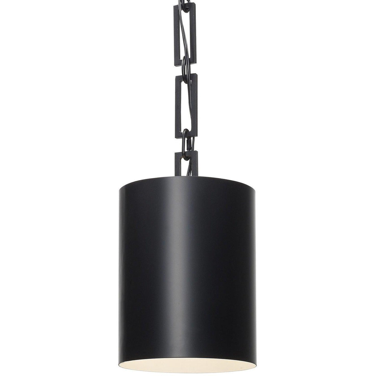 Crystorama - 8680-MK-WH - One Light Mini Chandelier - Alston - Matte Black / White