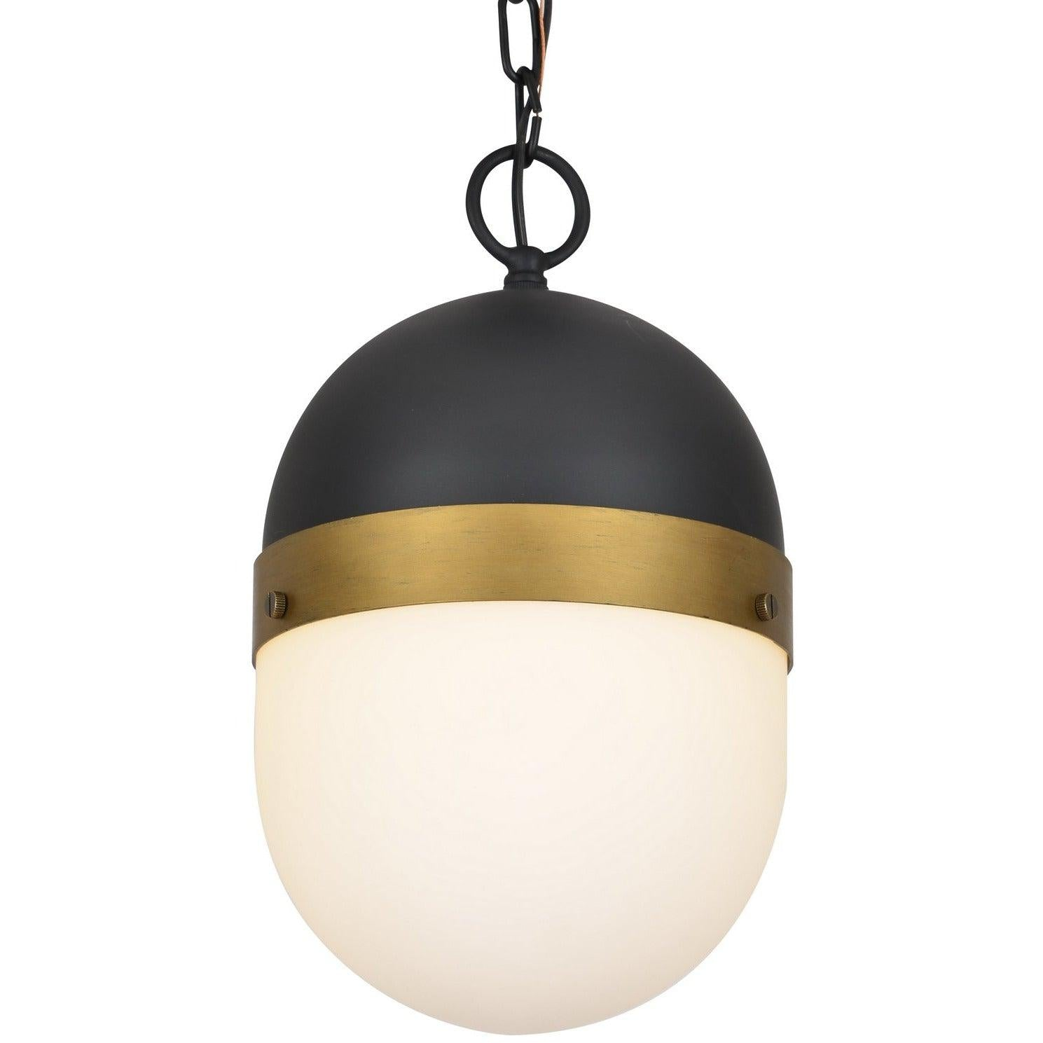Crystorama - CAP-8507-MK-TG - One Light Outdoor Pendant - Capsule - Matte Black