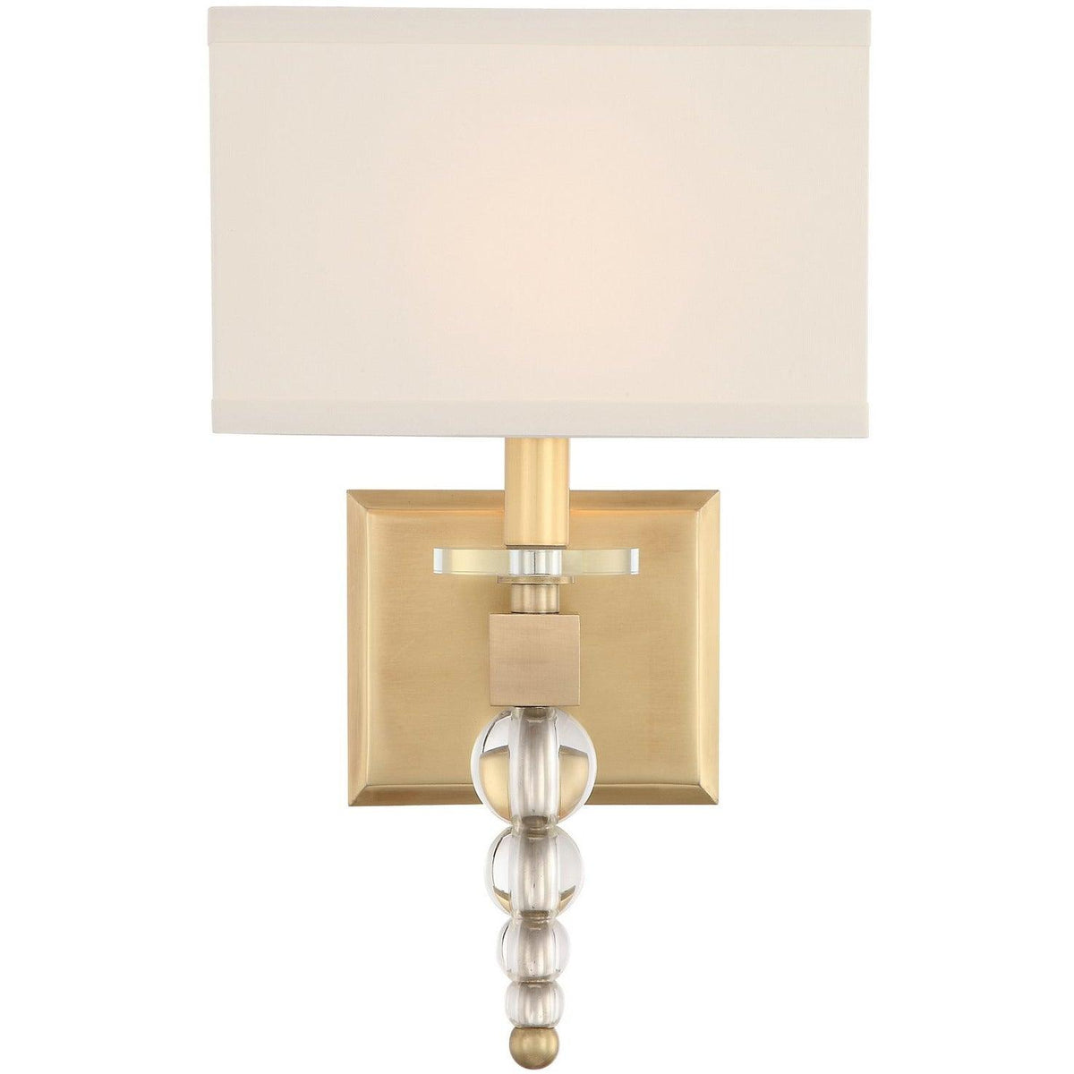 Crystorama - CLO-8892-AG - One Light Wall Mount - Clover - Aged Brass