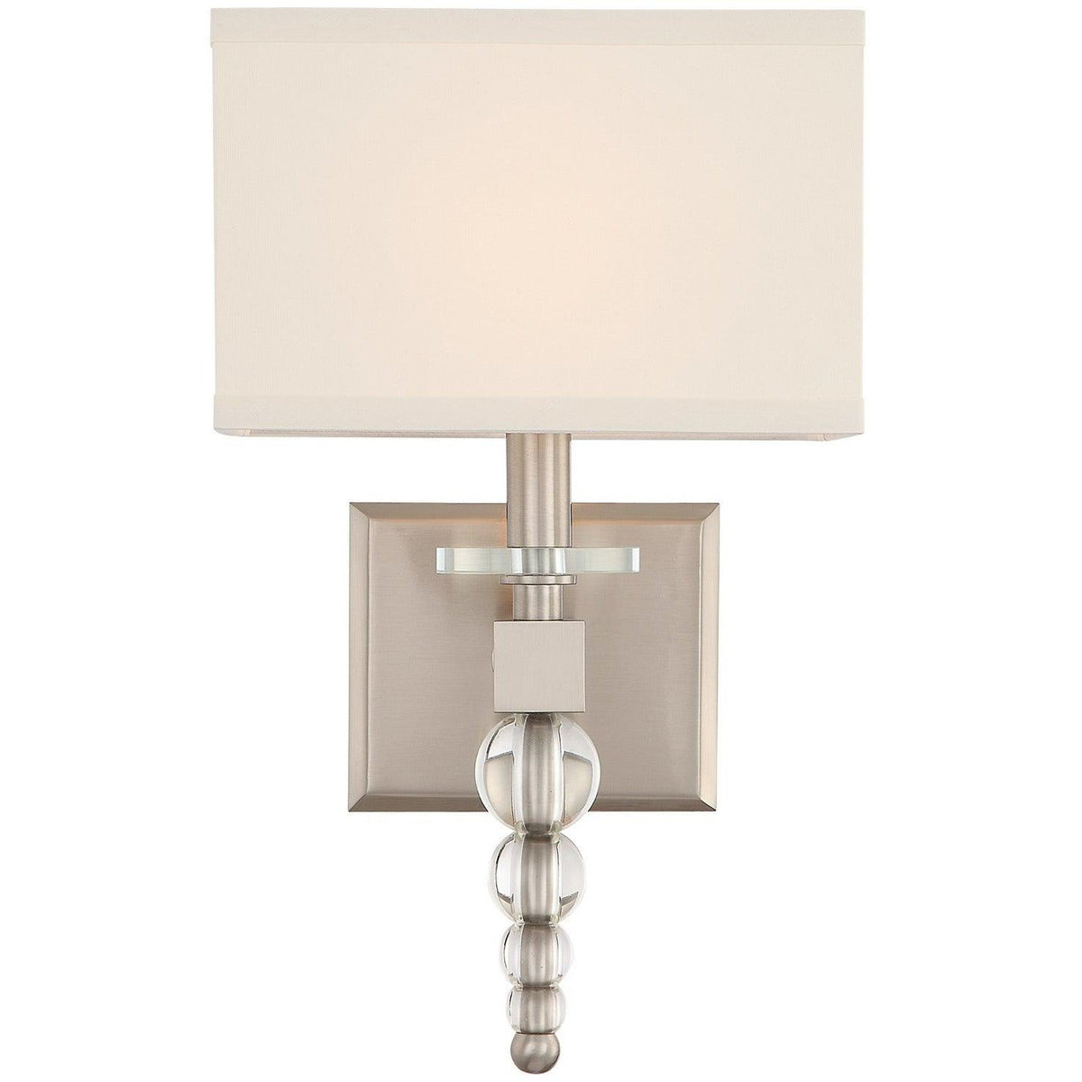 Crystorama - CLO-8892-BN - One Light Wall Mount - Clover - Brushed Nickel