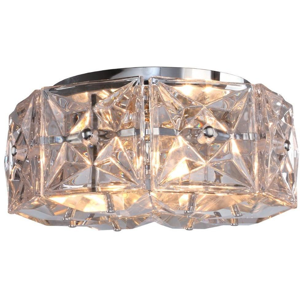 Crystorama - COL-7907-CH - Four Light Ceiling Mount - Collins - Polished Chrome