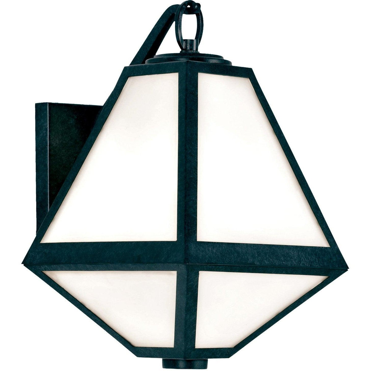 Crystorama - GLA-9701-OP-BC - One Light Outdoor Wall Mount - Glacier - Black Charcoal