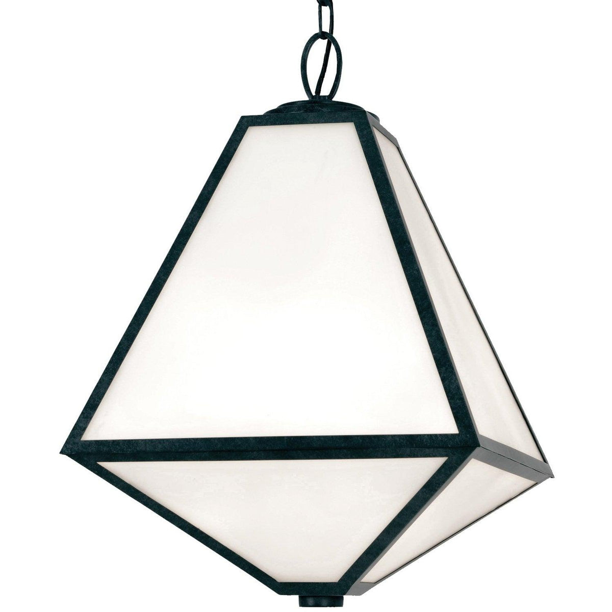 Crystorama - GLA-9705-OP-BC - Three Light Outdoor Chandelier - Glacier - Black Charcoal