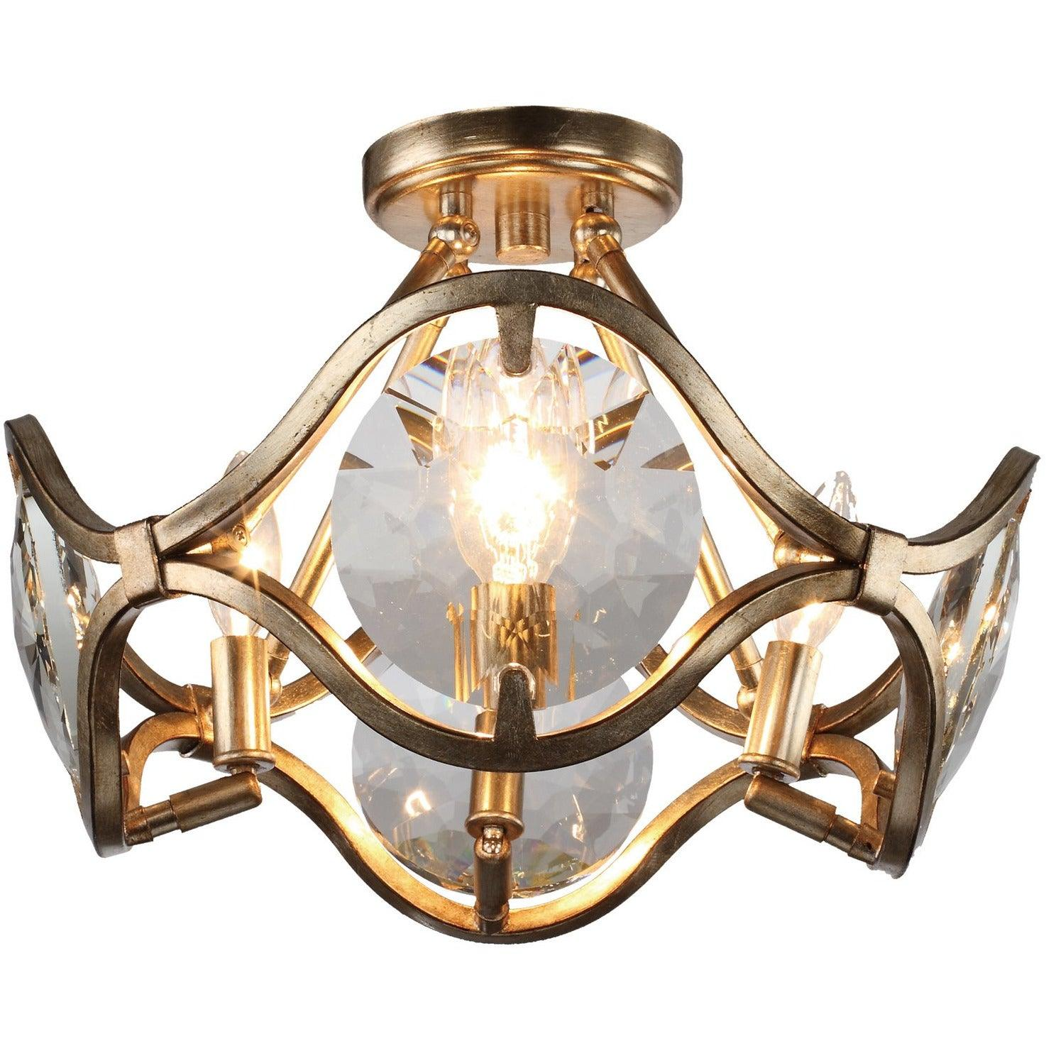 Crystorama - QUI-7624-DT - Four Light Ceiling Mount - Quincy - Distressed Twilight