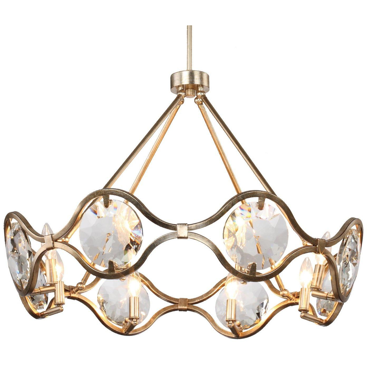 Crystorama - QUI-7628-DT - Eight Light Chandelier - Quincy - Distressed Twilight